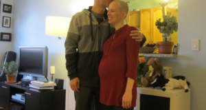 Husband Shaves Head In Solidarity For Pregnant Wife Undergoing Chemo