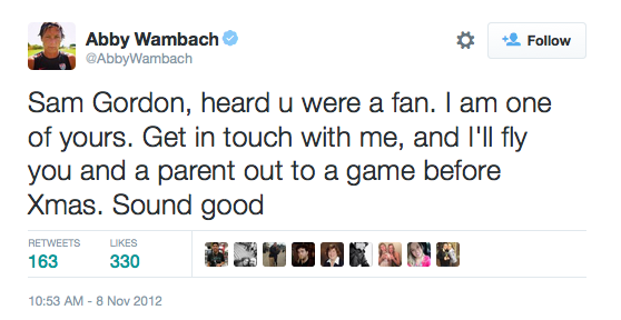 abby-wambach-sam-gordon-tweet