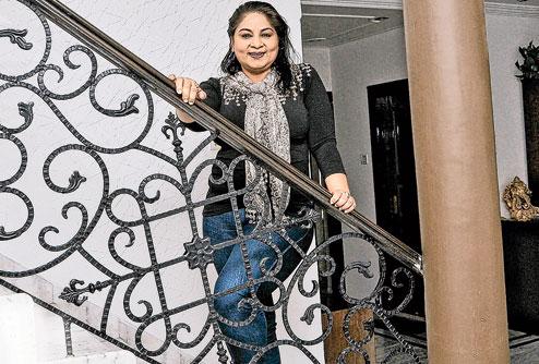 Chanda Zaveri at home