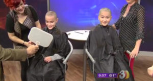 2 Girls Shave Heads Live On TV In Support For Young Cousin Who Died From Cancer