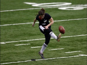 Lauren Silberman kicking