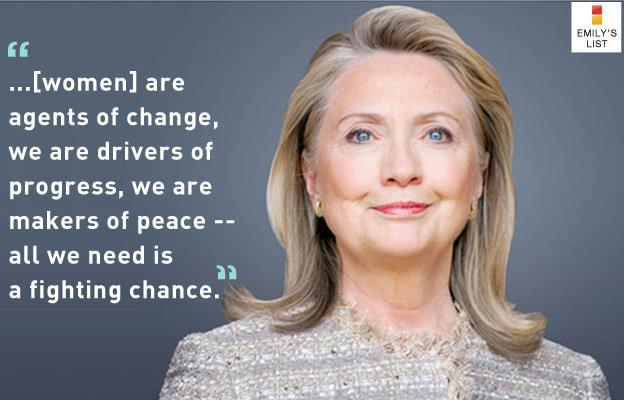 Hilary Clinton, emily's list