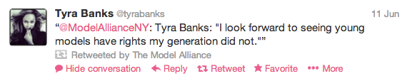 Tyra Banks tweet