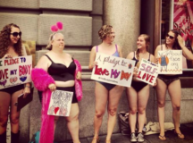 Group Protests Semi-Naked Outside Victoria's Secret To Insist They Make Lingerie For All Shapes & Sizes