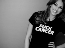 Screw The Pink Ribbons.This Lady Is Giving Cancer The Middle Finger!