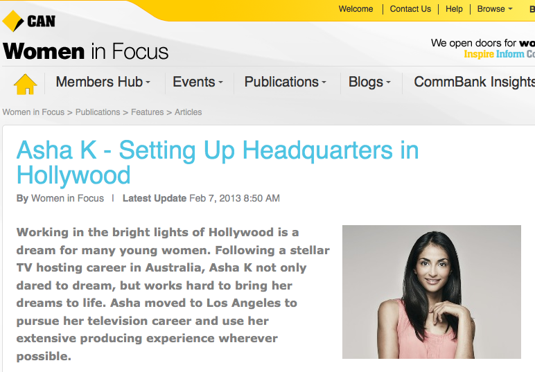 Our Feature on Commonwealth Bank Women In Focus Website