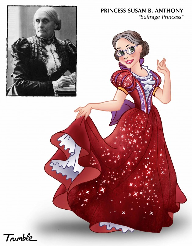 """Artist Gives Real Female Heroes A """"Disney Princess"""" Makeover"""