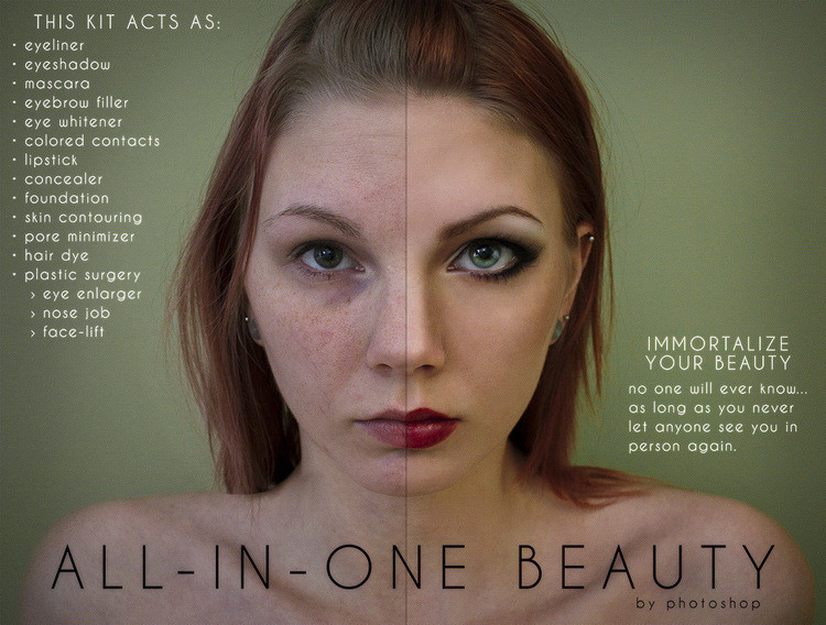Student project shows how photoshop damages beauty perception for Beauty project ideas