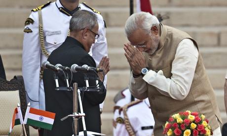 Indian-President-Pranab-Mukherjee-prime-minister-Narendra-Modi