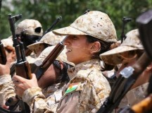 ISIS Terrorists Running In Fear From Kurdish Female Fighters