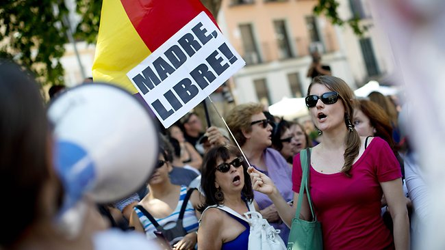 The Spanish Feminist Protest About Women's Rights The ...