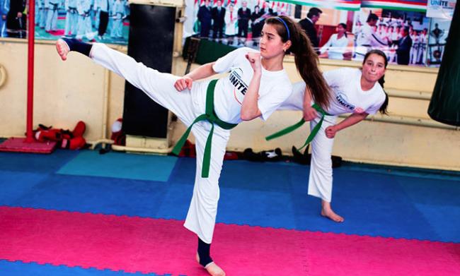 girls-doing-tawkwondo-UNFPA