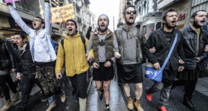 Turkish Men Wear Skirts In A Solidarity Protest About Violence Against Women