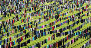 5000 Dresses Fill A Kosovo Soccer Stadium For Campaign Condemning Rape