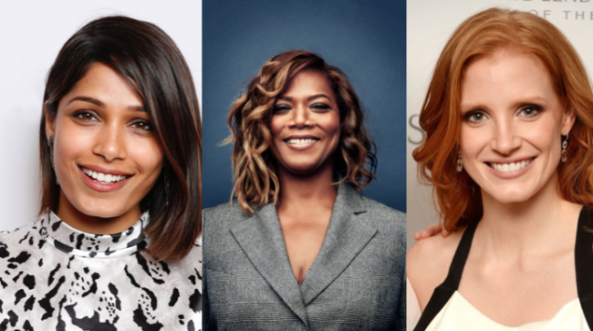 freida-pinto-queen-latifah-jessica-chastain