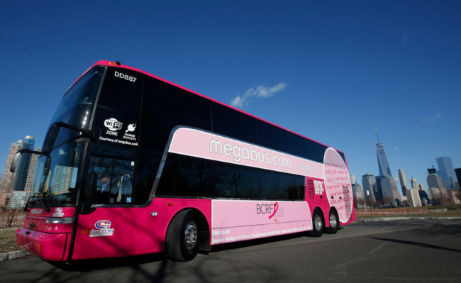 Megabus Goes Pink To Drive Awareness For The Breast Cancer