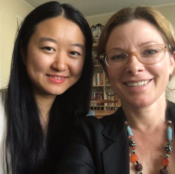 "( Li Lu, left, director of ""There is a New World Somewhere"" & Cady McClain, right, courtesy of Cady McClain)"