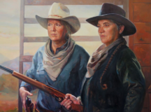 Artist Painted A Series Of Classic Western Movie Icons And Replaced The Men With Women