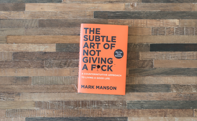 the subtle art of not giving a f book