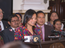 Angelina Aspuac testifies before the Congreso de la Republica de Guatemala