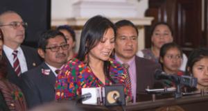 Angelina Aspuac testifies before the Congreso de la Republica de Guatemala