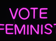 Artist Michele Pred's New Solo Exhibition 'Vote Feminist' Is A Call To Resist Ahead Of Mid-Terms